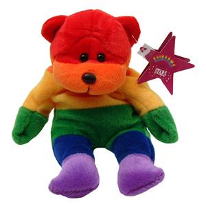 Rainbow Beanie Baby Bear