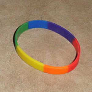 Gay Pride Bracelet - Silicone