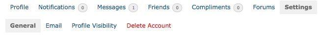 Delete Account