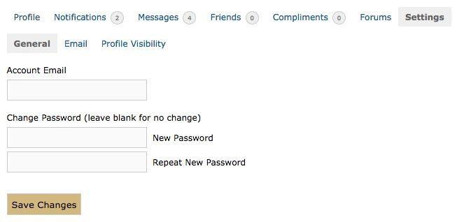 Change Password - save changes