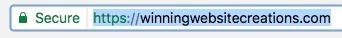 URL of Winning Website Creations
